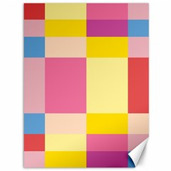 Colorful Squares Background Canvas 36  X 48   by Simbadda