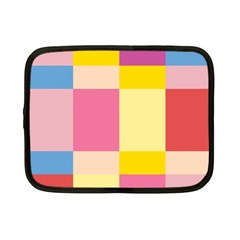 Colorful Squares Background Netbook Case (small)  by Simbadda