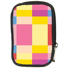 Colorful Squares Background Compact Camera Cases by Simbadda