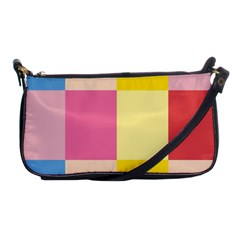 Colorful Squares Background Shoulder Clutch Bags by Simbadda