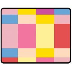 Colorful Squares Background Fleece Blanket (medium)  by Simbadda