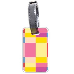 Colorful Squares Background Luggage Tags (one Side)  by Simbadda