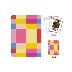 Colorful Squares Background Playing Cards (mini)  by Simbadda