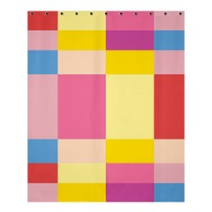 Colorful Squares Background Shower Curtain 60  X 72  (medium)  by Simbadda