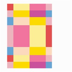 Colorful Squares Background Small Garden Flag (two Sides) by Simbadda