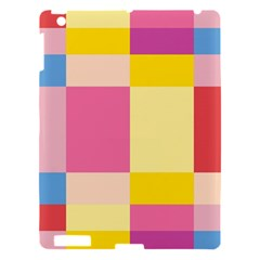 Colorful Squares Background Apple Ipad 3/4 Hardshell Case by Simbadda