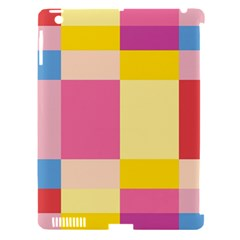 Colorful Squares Background Apple Ipad 3/4 Hardshell Case (compatible With Smart Cover) by Simbadda