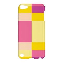 Colorful Squares Background Apple Ipod Touch 5 Hardshell Case by Simbadda