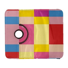 Colorful Squares Background Galaxy S3 (flip/folio) by Simbadda
