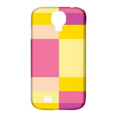 Colorful Squares Background Samsung Galaxy S4 Classic Hardshell Case (pc+silicone) by Simbadda