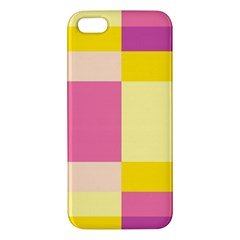 Colorful Squares Background Iphone 5s/ Se Premium Hardshell Case by Simbadda