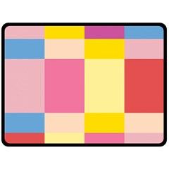 Colorful Squares Background Double Sided Fleece Blanket (large)  by Simbadda