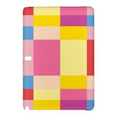 Colorful Squares Background Samsung Galaxy Tab Pro 12 2 Hardshell Case by Simbadda