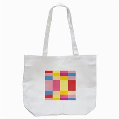 Colorful Squares Background Tote Bag (white) by Simbadda