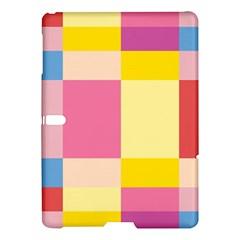 Colorful Squares Background Samsung Galaxy Tab S (10 5 ) Hardshell Case  by Simbadda