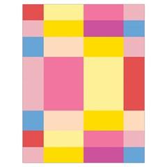 Colorful Squares Background Drawstring Bag (large) by Simbadda