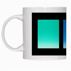 Colorful Background Squares White Mugs by Simbadda