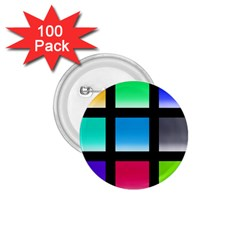 Colorful Background Squares 1 75  Buttons (100 Pack)  by Simbadda