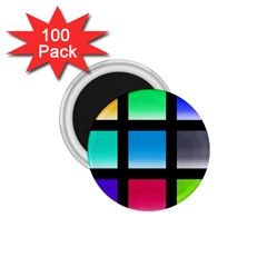 Colorful Background Squares 1 75  Magnets (100 Pack)  by Simbadda