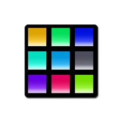 Colorful Background Squares Square Magnet by Simbadda