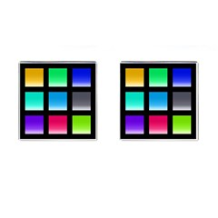 Colorful Background Squares Cufflinks (square) by Simbadda