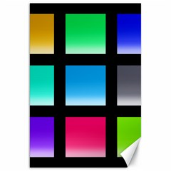 Colorful Background Squares Canvas 20  X 30   by Simbadda