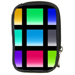 Colorful Background Squares Compact Camera Cases by Simbadda