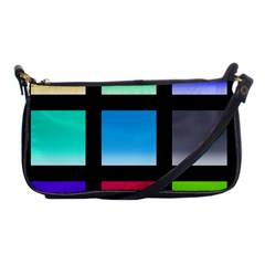Colorful Background Squares Shoulder Clutch Bags by Simbadda