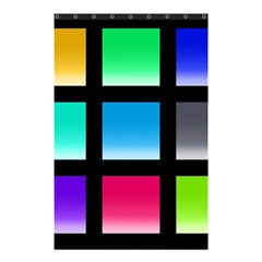 Colorful Background Squares Shower Curtain 48  X 72  (small)  by Simbadda