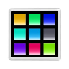 Colorful Background Squares Memory Card Reader (square)  by Simbadda