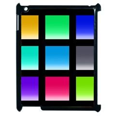 Colorful Background Squares Apple Ipad 2 Case (black) by Simbadda