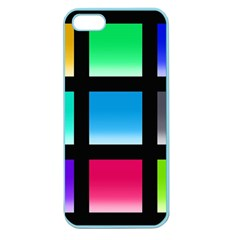 Colorful Background Squares Apple Seamless Iphone 5 Case (color) by Simbadda