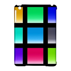 Colorful Background Squares Apple Ipad Mini Hardshell Case (compatible With Smart Cover) by Simbadda