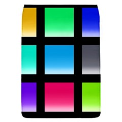 Colorful Background Squares Flap Covers (s)  by Simbadda