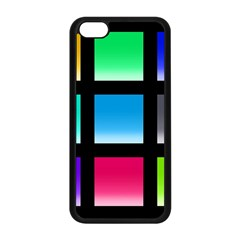 Colorful Background Squares Apple Iphone 5c Seamless Case (black) by Simbadda