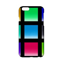 Colorful Background Squares Apple Iphone 6/6s Hardshell Case by Simbadda