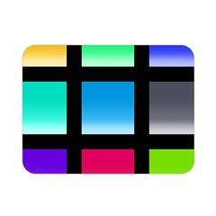 Colorful Background Squares Double Sided Flano Blanket (mini)  by Simbadda