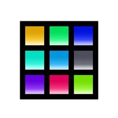 Colorful Background Squares Satin Bandana Scarf by Simbadda