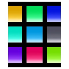 Colorful Background Squares Drawstring Bag (small) by Simbadda