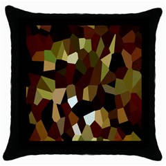Crystallize Background Throw Pillow Case (black) by Simbadda