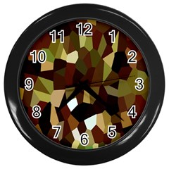 Crystallize Background Wall Clocks (black)