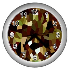 Crystallize Background Wall Clocks (silver)  by Simbadda
