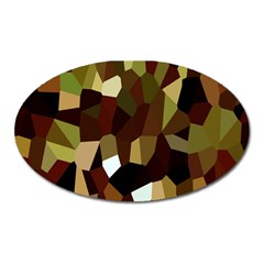 Crystallize Background Oval Magnet by Simbadda
