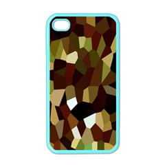 Crystallize Background Apple Iphone 4 Case (color) by Simbadda