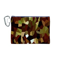Crystallize Background Canvas Cosmetic Bag (m) by Simbadda