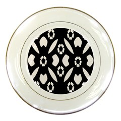 Abstract Background Pattern Porcelain Plates by Simbadda