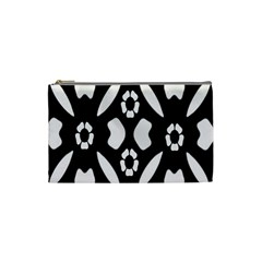 Abstract Background Pattern Cosmetic Bag (small)  by Simbadda