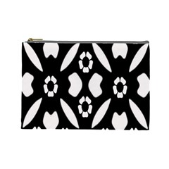 Abstract Background Pattern Cosmetic Bag (large)  by Simbadda