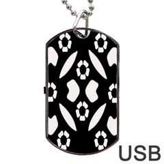 Abstract Background Pattern Dog Tag Usb Flash (one Side) by Simbadda
