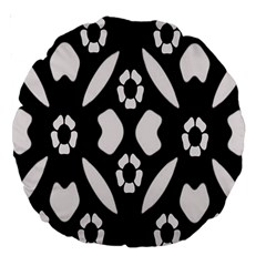 Abstract Background Pattern Large 18  Premium Round Cushions by Simbadda